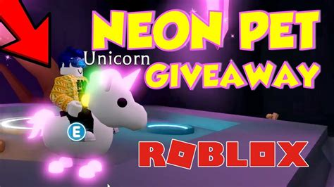 Adopt Me Neon Pets - How to get a FREE NEON PET IN ADOPT ... - neon unicorn roblox adopt me pets wallpaper