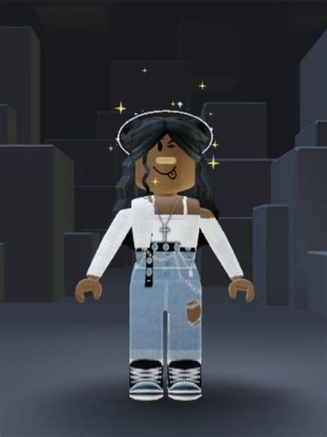 Roblox outfit in 2020  Black girl cartoon, Cool avatars ... - girl roblox pictures black