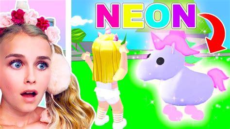 NEON UNICORN - How To Get A *FREE* Neon Legendary Unicorn ... - neon unicorn roblox adopt me pets wallpaper