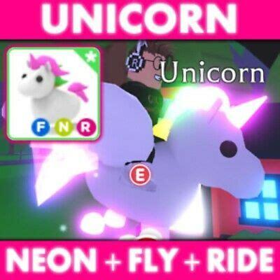 Adopt Me Unicorn Neon Fly Ride Roblox - Legendary Pet Rare ... - neon unicorn roblox adopt me pets wallpaper